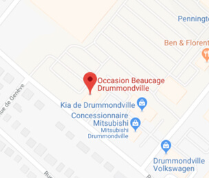 Google map occasion beaucage drummondville